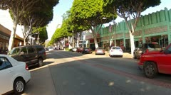 Tree Lined Greenleaf Street- Old Uptown Whitter CA Stock Footage