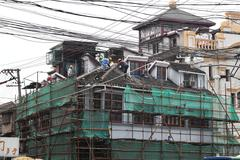 Construction site in Shanghai, China - stock photo