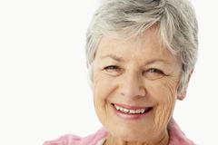 Portrait of senior woman - stock photo