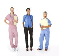Mixed group of female medical professionals - stock photo
