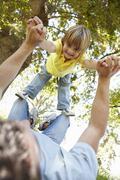Child having fun at park - stock photo