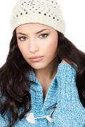 Woman in winter outfit Stock Photos
