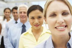 Mixed group business people Stock Photos