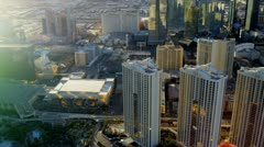 Aerial Hotel and Casino view Las Vegas, USA Stock Footage