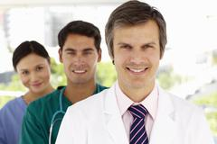 Group of hospital doctors Stock Photos
