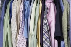 Rail of men's shirts Stock Photos