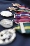 Strip of medals Stock Photos
