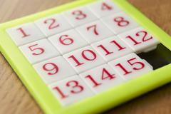 Number puzzle Stock Photos