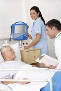 Doctor, nurse and patient in USA Accident and Emergency Stock Photos