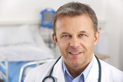 Stock Photo of Portrait American doctor on hospital ward