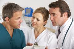 Stock Photo of American medical team working on hospital ward