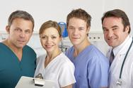 Stock Photo of Portrait American medical team on hospital ward