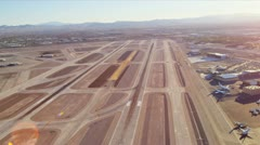 Aerial view McCarran International Airport, Las Vegas, Stock Footage