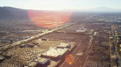 Stock Video Footage of Aerial landscape view desert communities, USA