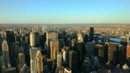Ultra HD 4K New York City Skyline Sunset Aerial View, Manhattan, time lapse Stock Footage
