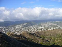 Suburbs of Honolulu from Diamond Head Stock Photos