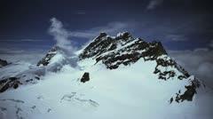 Ultra HD 4K Winter Landscape in Swis Alps, Jungfrau, Switzerland, time lapse - stock footage