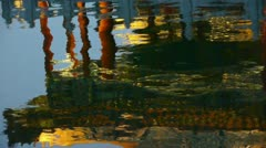 China Beijing ancient Chinese architecture pavilions reflection in pool water. Stock Footage