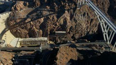 Aerial view Hoover Dam Bypass Project on US 93, USA Stock Footage