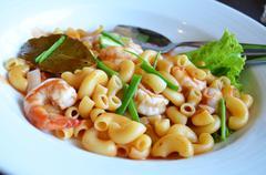 Tomato sauce pasta Stock Photos