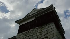 Matsuyama Castle Cloud Time Lapse - stock footage