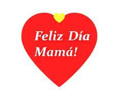 The sentence feliz dia de la madre, happy mothers day in spanish Stock Illustration