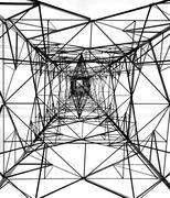 High voltage power mast Stock Photos