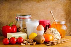 Terveellistä ruokaa Kuvituskuvat