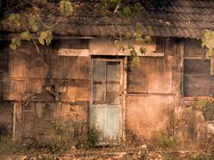 old dilapidated shack - stock photo