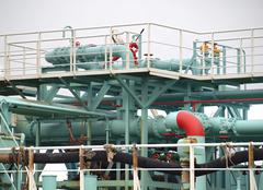 Stock Photo of industrial oil terminal