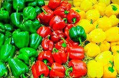 colored bell pepper paprika - stock photo