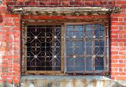 Stock Photo of old windw with iron bars