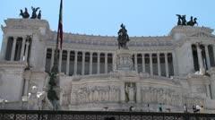 Roma - Altare della Patria - Vittoriano - stock footage