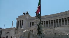Altare della Patria (Altar of the Fatherland) - Rome Stock Footage