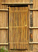 Stock Photo of simple bamboo door