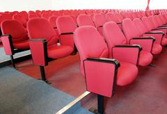 Stock Photo of rows of red chairs