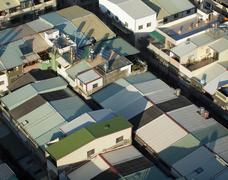 Rooftops in a crowded city Stock Photos