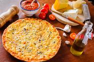 Stock Photo of traditional cheese pizza