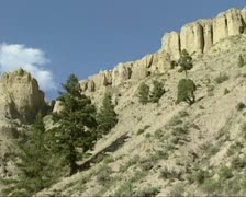 Swift pan sandstone slope at Mount Everts, Yellowstone National Park. Stock Footage