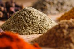 indian spices - stock photo