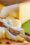 soft cream cheese - stock photo