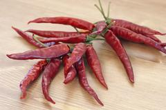Red dry chillies Stock Photos