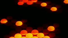 120 bpm orange lights 1 Stock Footage