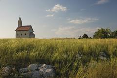 Romanesque church saint michael on the rock Stock Photos
