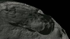 Moon flight animation Stock Footage