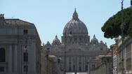 Stock Video Footage of The Papal Basilica of Saint Peter in the Vatican
