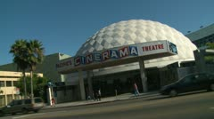 Cinerama Dome, Snap Zooms Stock Footage