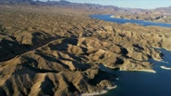 Stock Video Footage of Aerial view Lake Mead nr  Las Vegas, USA