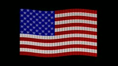 USA flag jewelry design Stock Footage