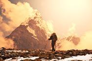 Hike in himalaya Stock Photos